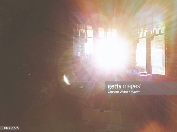 Bright Sunlight Streaming Through Window At Home