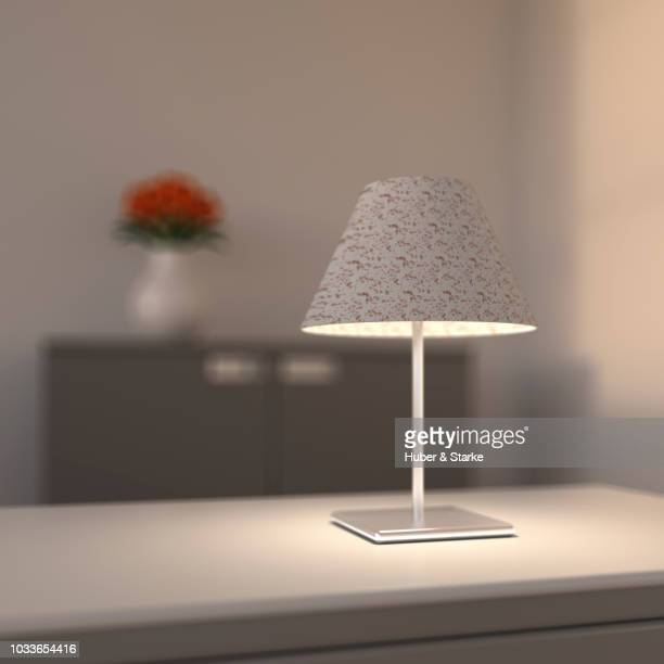 bright table lamp - quadratisch komposition stock-fotos und bilder