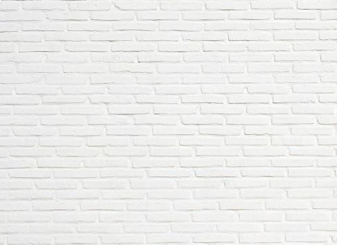 Bright White Brick Wall Texture Background Pattern 93442232