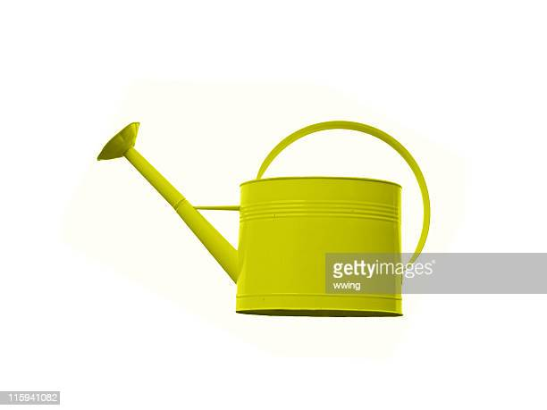 Bright Yellow Watering Can with a mushroom too like tip