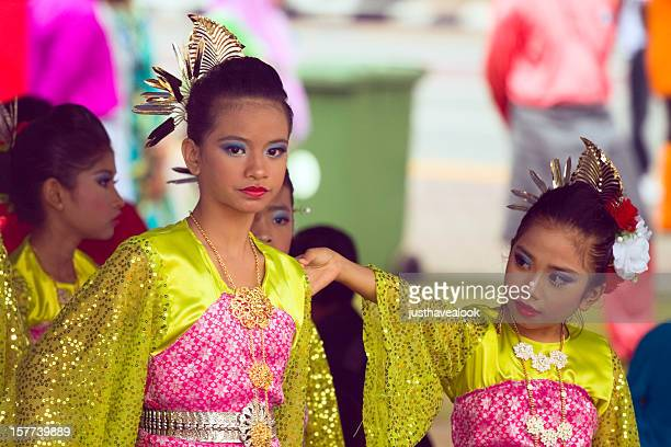 bright young malay girls at hari raya - malaysia beautiful girl stock photos and pictures