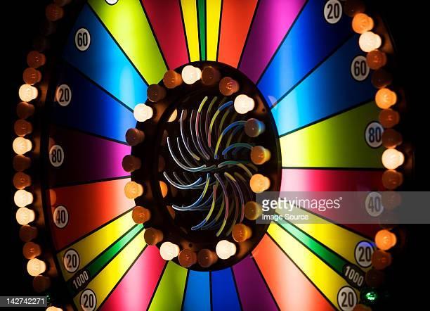Brightly colored casino wheel