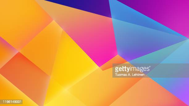 brightly colored geometric background with color gradients and copy space. high resolution abstract illustration in 4k resolution. - bunter hintergrund stock-fotos und bilder