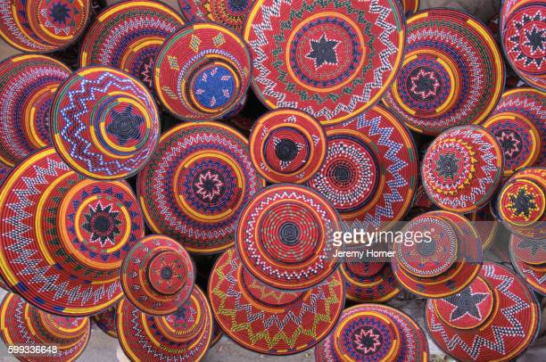 Brightly Colored Handwoven Food Bowls