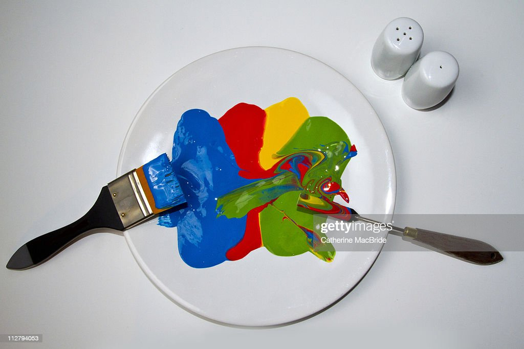 Brightly colored paint : Stock Photo