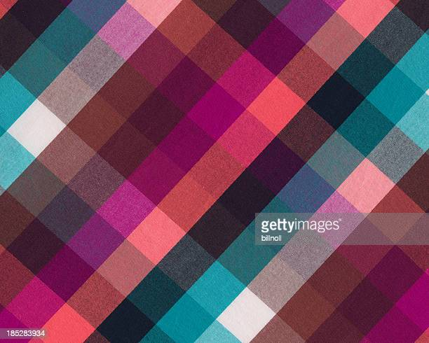brightly colored plaid woven fabric