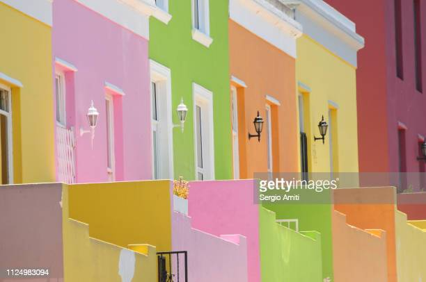 Brightly coloured houses in Cape Town