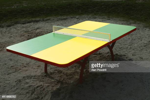 Brightly Coloured Isolated Table Tennis Table