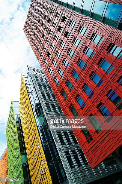 Brightly coloured office buildings taken on August 8 2011