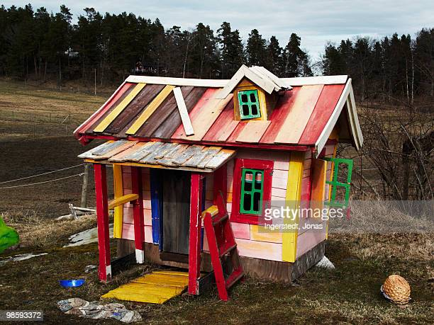 A brightly coloured playhouse, Sweden.