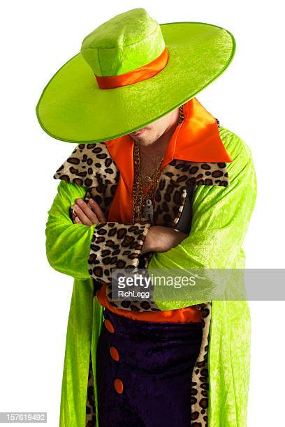 brightly dressed man - pimp stock photos and pictures