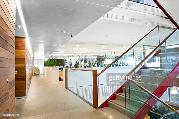 Brightly lit modern office space