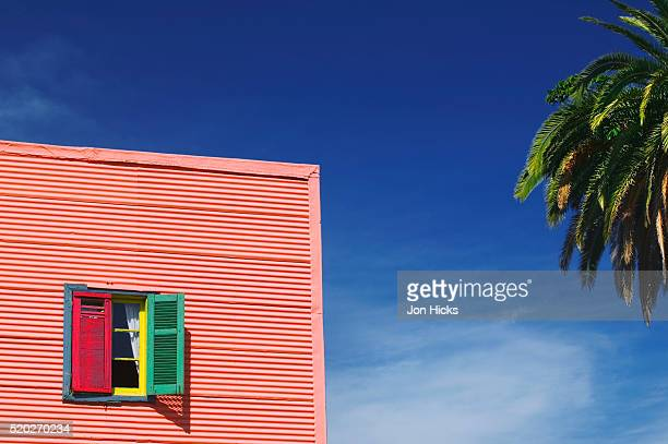 Brightly Painted House in La Boca