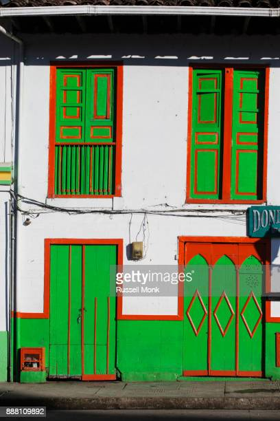 A brightly painted house
