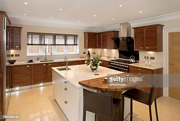 Brightly-lit large modern kitchen