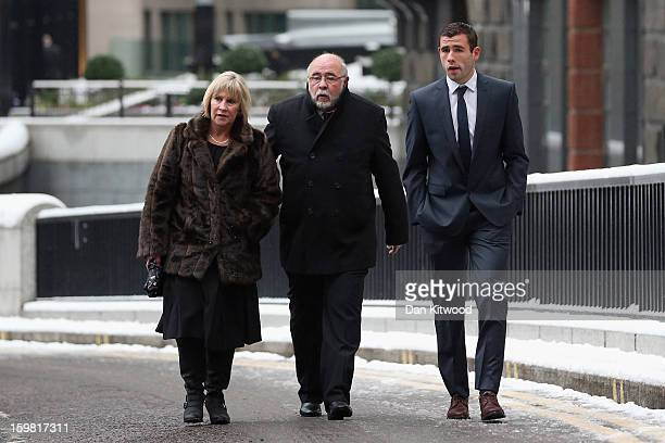 Brighton and Hove Albion football player Steve Cook arrives at the Old Bailey on January 21 2013 in London England Three Brighton and Hove Albion...