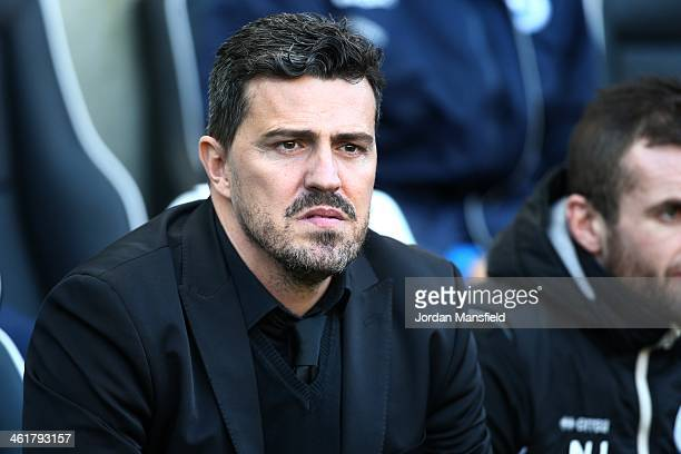 Brighton and Hove Albion Head Coach Oscar Garcia looks on during the Sky Bet Championship match between Brighton Hove Albion and Birmingham City at...
