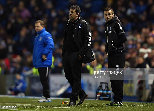 Brighton and Hove Albion Manager Oscar Garica looks on during the Sky Bet Championship match between Brighton Hove Albion and Huddersfield Town at...
