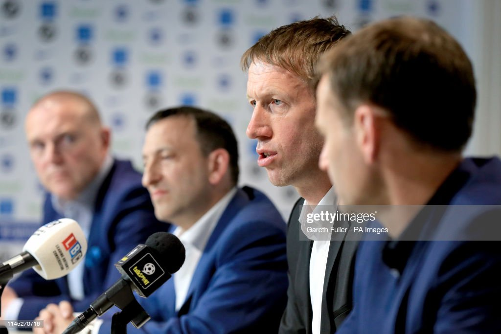 Brighton and Hove Albion Press Conference - American Express Elite Football Performance Centre : News Photo