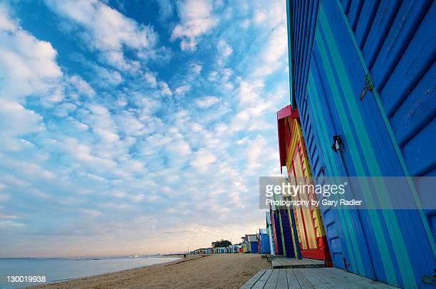 Brighton beach bathing boxes, Victoria, Australia