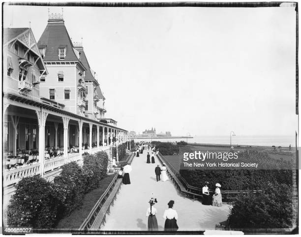 Brighton Beach Hotel garden and verandah Brooklyn New York New York 1895