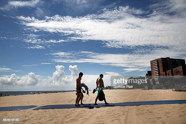 Brighton Beach in Brooklyn is viewed on a hot day on August 20 2015 in New York City The National Oceanic and Atmospheric Administration announced on...