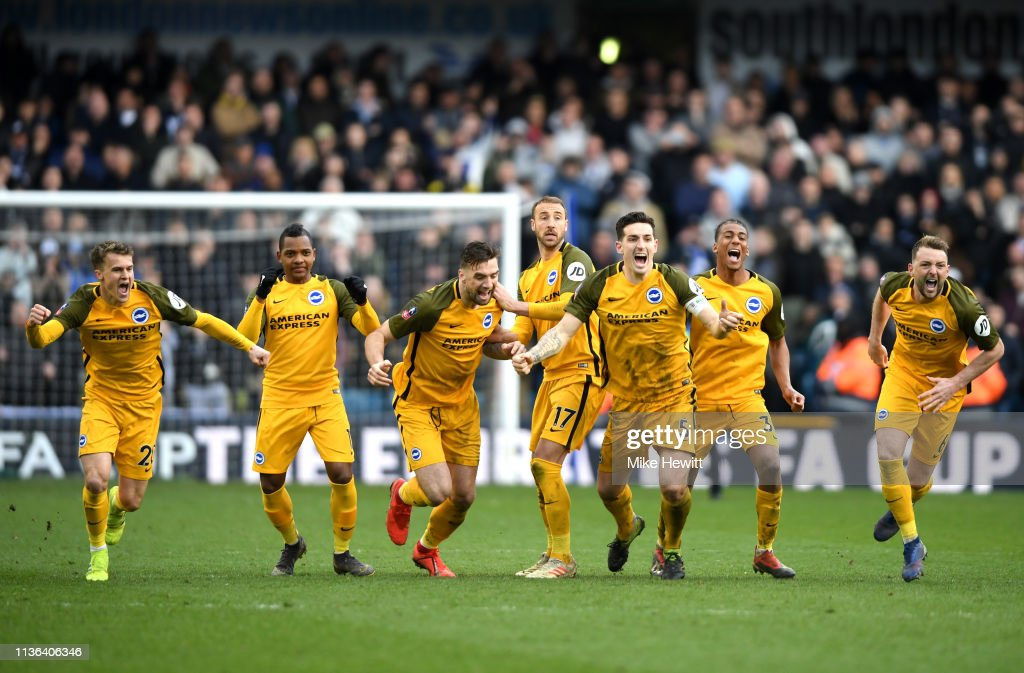 GBR: Millwall v Brighton and Hove Albion - FA Cup Quarter Final