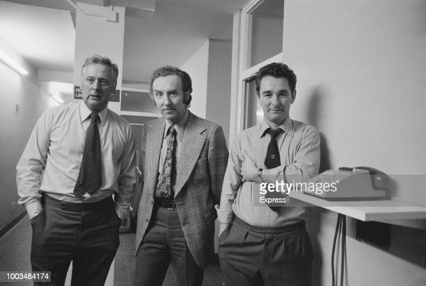 Brighton Hove Albion FC assistant manager Peter Taylor chairman Mike Bamber and manager Brian Clough UK 6th November 1973