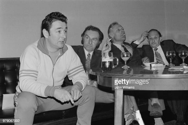 Brighton Hove Albion FC manager Brian Clough chairman Mike Bamber assistant manager Peter Taylor and vicechairman Harry Bloom UK 19th February 1974