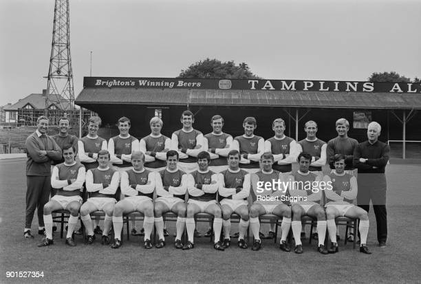 Brighton Hove Albion FC with team manager Archie Macaulay Brighton UK 20th August 1968