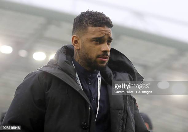 Brighton Hove Albion new signing Jurgen Locadia is presented to the fans at halftime of the Premier League match at the AMEX Stadium Brighton