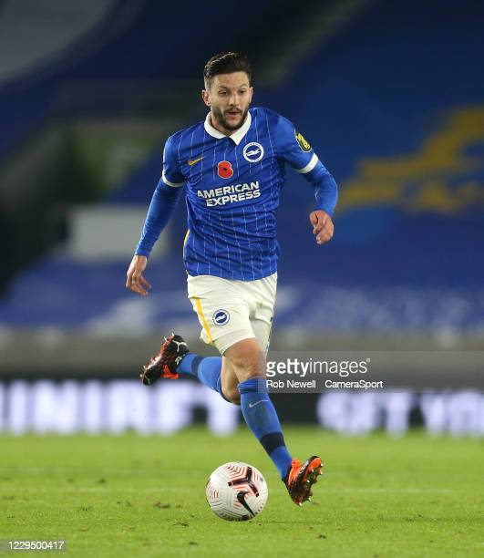 Brighton & Hove Albion's Adam Lallana during the Premier League match between Brighton & Hove Albion and Burnley at American Express Community...