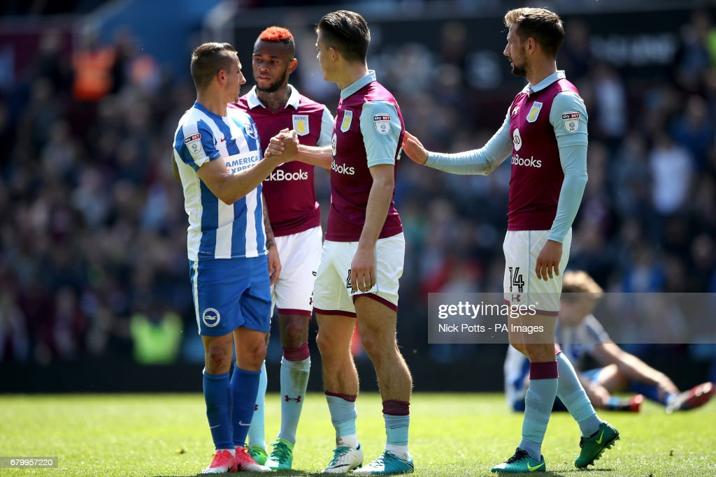 Aston Villa v Brighton and Hove Albion - Sky Bet Championship - Villa Park : News Photo