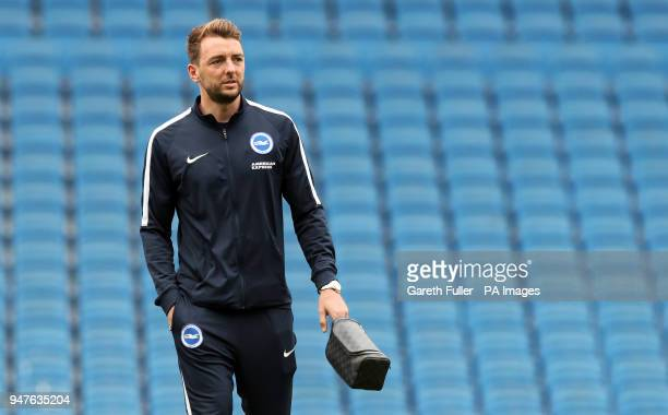 Brighton Hove Albion's Dale Stephens arrives for the Premier League match at the AMEX Stadium Brighton
