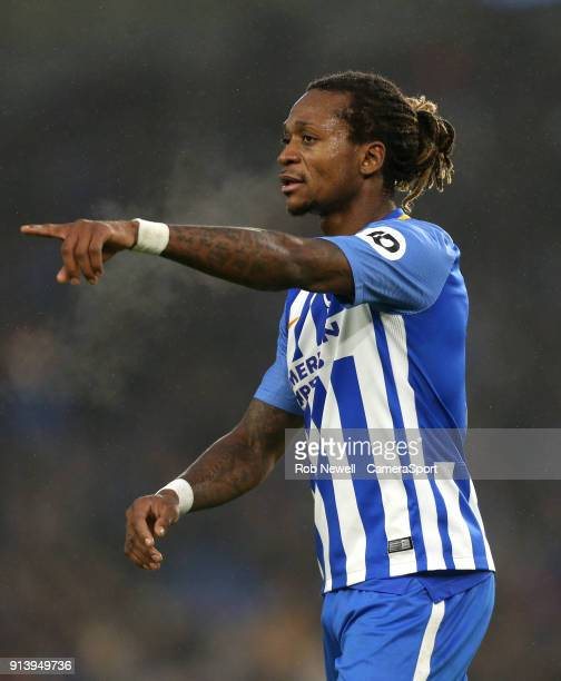 Brighton Hove Albion's Gaetan Bong during the Premier League match between Brighton and Hove Albion and West Ham United at Amex Stadium on February 3...