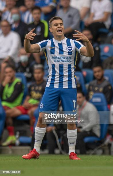 Brighton & Hove Albion's Leandro Trossard during the Premier League match between Brighton & Hove Albion and Watford at American Express Community...