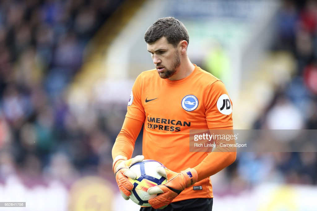 Brighton & Hove Albion's Matthew Ryan during the Premier League match between Burnley and Brighton and Hove Albion at Turf Moor on April 28, 2018 in Burnley, England.