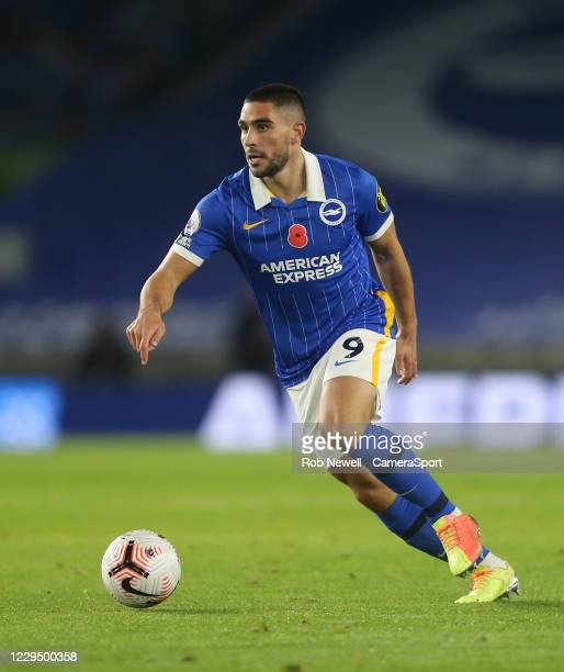 Brighton & Hove Albion's Neal Maupay during the Premier League match between Brighton & Hove Albion and Burnley at American Express Community Stadium...