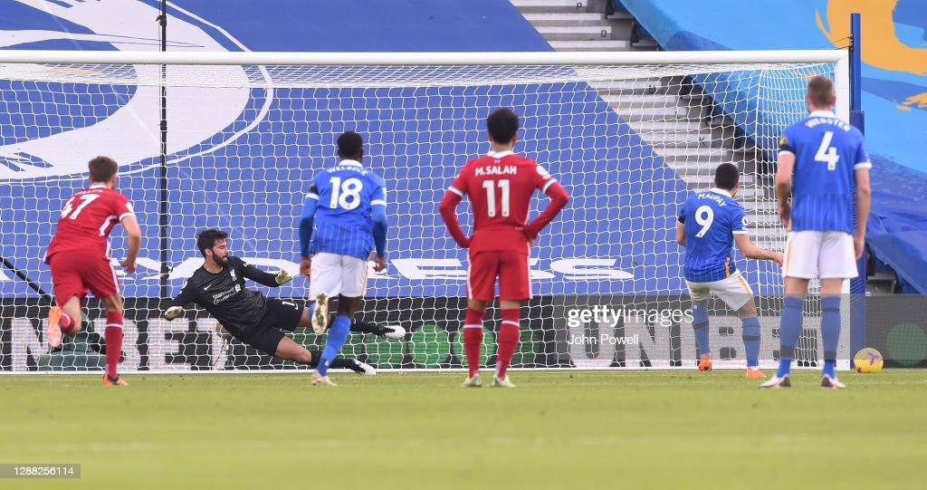 Brighton & Hove Albion v Liverpool - Premier League : ニュース写真