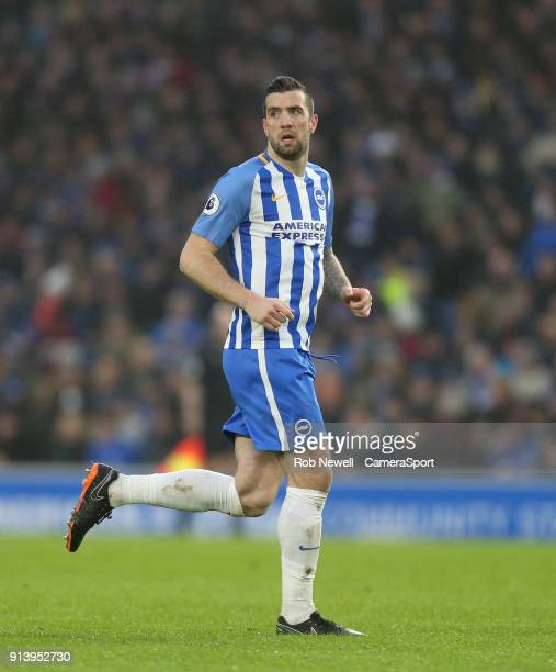 Brighton Hove Albion's Shane Duffy during the Premier League match between Brighton and Hove Albion and West Ham United at Amex Stadium on February 3...