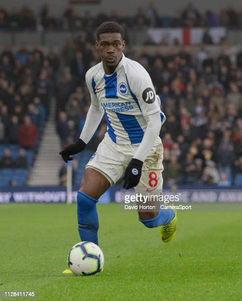 Brighton Hove Albion's Yves Bissouma during the Premier League match between Brighton Hove Albion and Huddersfield Town at American Express Community...