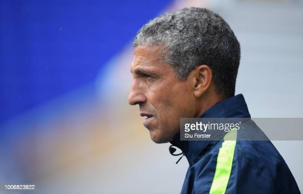 Brighton manager Chris Hughton looks on during the friendly match between Birmingham City and Brighton and Hove Albion at St Andrew's Trillion Trophy...