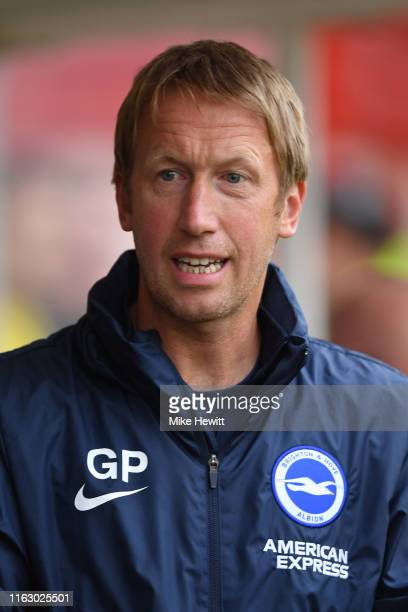 Brighton manager Graham Potter looks on during the PreSeason Friendly match between Crawley Town and Brighton and Hove Albion at The People's Pension...