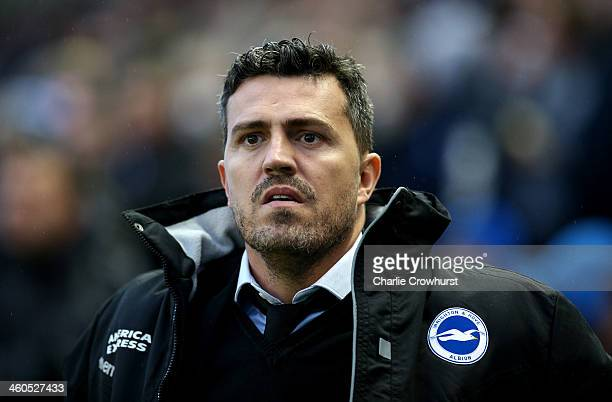 Brighton manager Oscar Garcia during the FA Cup Third Round match between Brighton and Hove Albion and Reading at the Amex Stadium on January 04 2014...