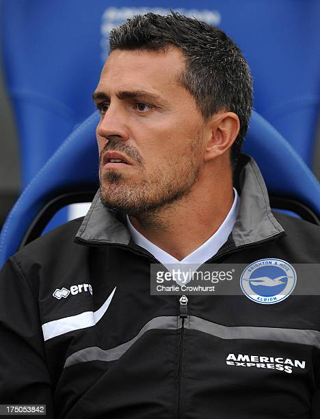 Brighton manager Oscar Garcia during the pre season friendly match between Brighton Hove Albion and Norwich City at The Amex Stadium on July 30 2013...