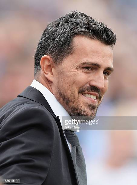 Brighton manager Oscar Garcia looks on during the Sky Bet Championship match between Brighton Hove Albion and Derby County at Amex Stadium on August...