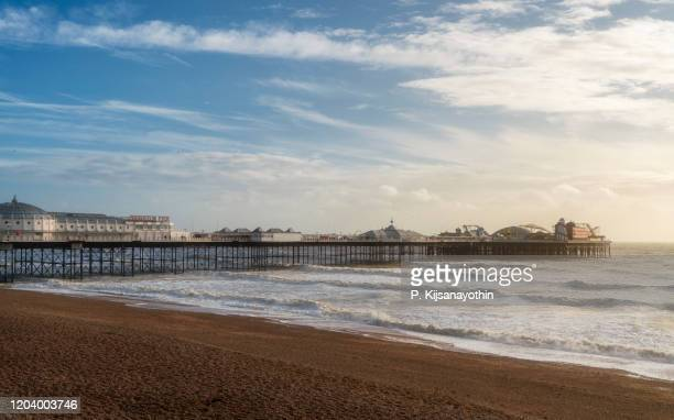 brighton palace pier - pier stock pictures, royalty-free photos & images
