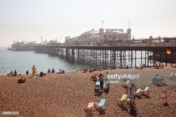 brighton pier. england - brighton beach england stock pictures, royalty-free photos & images