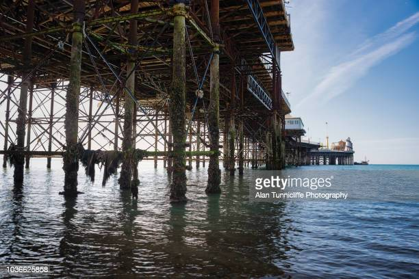 Brighton pier from sea level