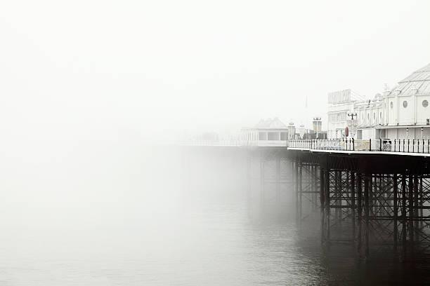Brighton pier in the fog